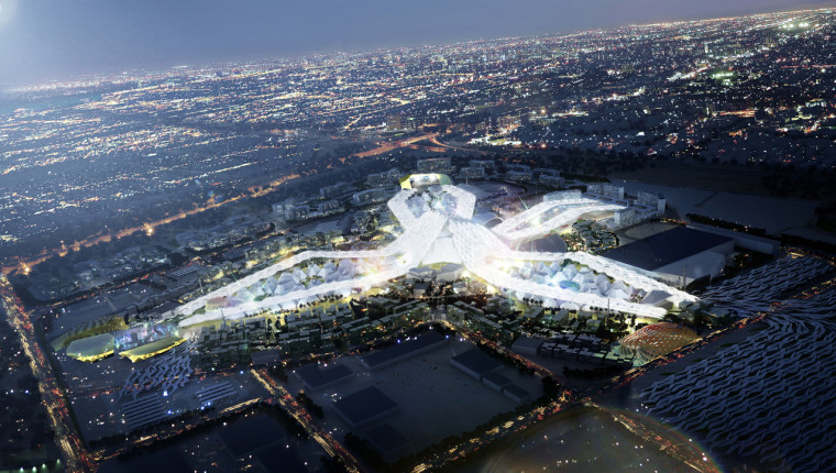 Architectural Impression of Expo 2020 at Night